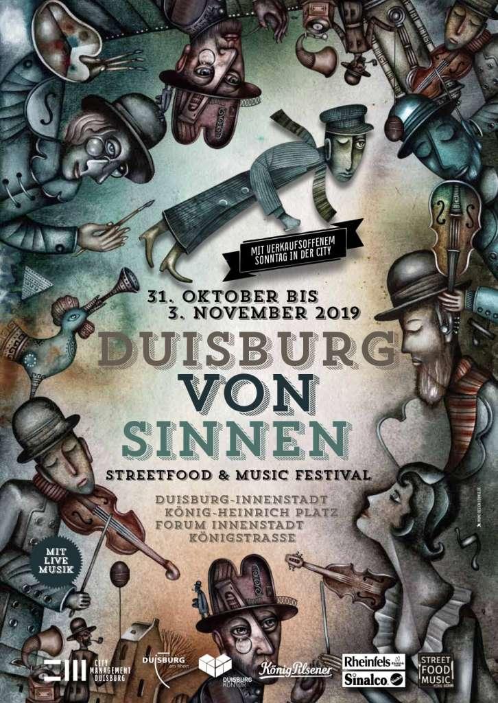 Duisburg von Sinnen mit verkaufsoffenem Sonntag am 03.11.2019